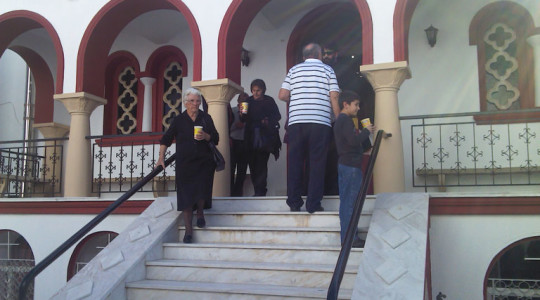 Visit from Pilgrims from Heraklion of Crete