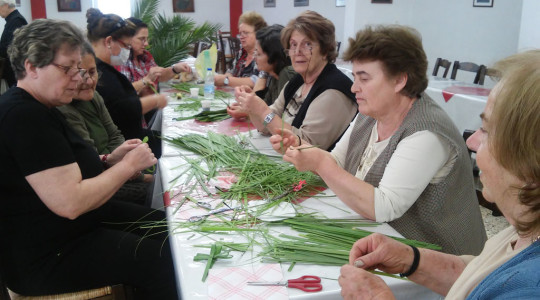 The preparations for Palm Sunday