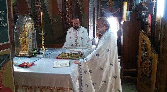 Visit of father Makarios Blasco